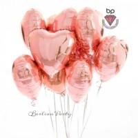 Balon Foil Love / Balon foil Hati / Bentuk Hati Rose gold 40cm