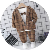 NARARAKIDS Setelan Formal Anak Bayi Wool Import - Cokelat, 12-18 Bulan