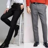 Celana Kerja Pria Slim Fit bahan Wool big size-Celana Kerja pria jumbo