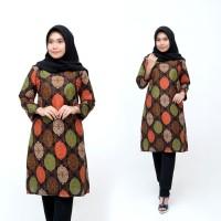 Tunik Batik Pelangi Terlaris Atasan Wanita Kerja Muslim Terbaru
