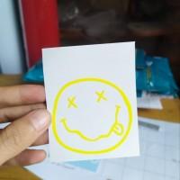 stiker band logo nirvana custom