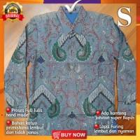 Baju Batik Pria Full Tulis Hand made Lengan Panjang Kantor Pesta BM05