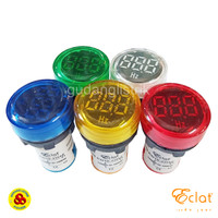 Pilot Lamp LED Hz Meter 22mm 30-105Hz Round Panel Frequency Indicator