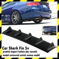 Car Shark Fin Universal Rear Bumper Lip Diffuser 5V