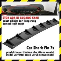 Car Shark Fin Universal Rear Bumper Lip Diffuser 7V