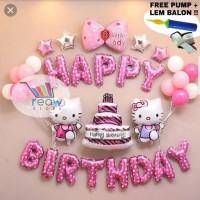 BALON HELLO KITTY Paket Dekorasi Balon Ulang Tahun / Happy Birthday