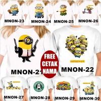 Murah Baju Kaos COUPLE ANAK DAN DEWASA MINION BANYAK MOTIF