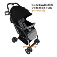Stroller Baby Elle Kereta Bayi Babyelle S606 Citilite 2 Black Grey