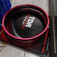 velg tdr 140 160 ring 17 2tone red black ste R12