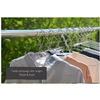 Gantungan Baju / Hanger Baju / Gantungan Besi Anti Karat Premium Super