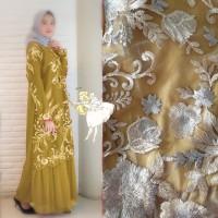 gamis pesta mewah premium dress novena gold baju muslim murah nov at