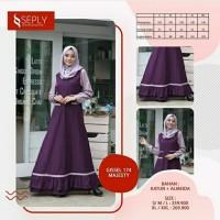 Seply Gissel 174 - Baju Muslim Gamis Dress Syari Termurah Original