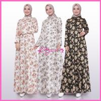 Baju Muslim Gamis Katun Jepang Ori Cantik Fashion Kekinian Motif Bunga