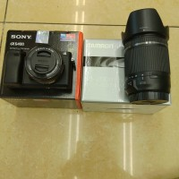 Sony Alpha A6400 kit 16-50mm + Lensa Tamron 18-200mm VC II For Sony