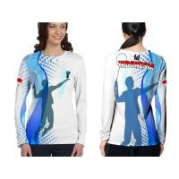 2season5 Kaos Baju Lengan Panjang Wanita BADMINTON 03 Fullprint