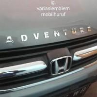 Emblem nama huruf angka abjad alpabet untuk mobil motor helm laci