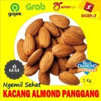 1kg Kacang Almond Panggang Oven Roasted Kupas Tanpa Kulit Original