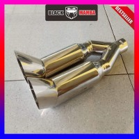 Knalpot Mobil 5zigen Tailpipe Double Cabang Buntut Turbo Muffler