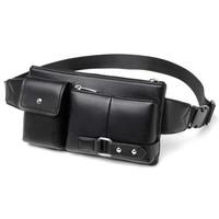 KAVEE - Tas Selempang Kulit Pria PU Import Leather Sling Bag Premium 7