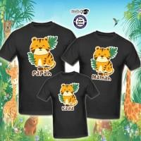 Kaos Family 3 pcs - Animal Jungle Banyak Motif - Free Cetak Nama