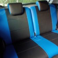 sarung jok mobil sirion 2016 bahan cheerokhee warna hitam + biru
