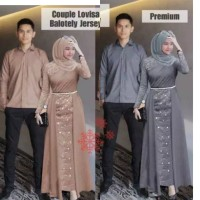 Dress couple gamis lovisa - baju pasangan muslim