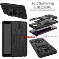 RUGGED ARMOR CASE ASUS ZENFONE 5Q 5 LITE ZC600KL BACK COVER KICK STAND