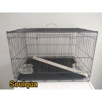 Kandang besi lipat size L (60x42x42) untuk kucing anjing hamster