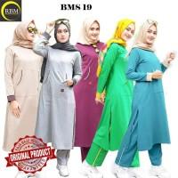 BMS 19 Baju Kaos Olah Raga Wanita Muslim Muslimah Bahan Katun Ori