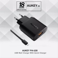 Aukey PA-U28 Quick Charge 2.0 - Aukey Adaptor Charger 18W FastCharging