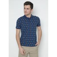 Jack Nicklaus Carly Polo Shirt Pria Slim Fit Biru