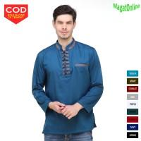 Baju Muslim. Baju Koko Akhtar Lengan Panjang ada 4 Warna