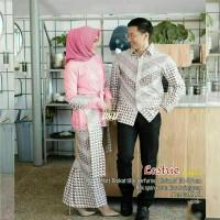 couple set kebaya burkat impot /Seragam Baju kebaya wisuda /kebaya.