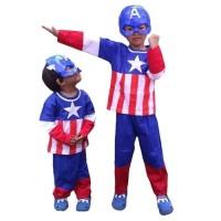 Baju Kostum Topeng (Anak) - Captain America