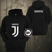 Jaket Hoodie Bola Sweater Jumper New Logo Juve Juventus 1718 Lokal