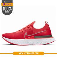 Sepatu Lari Nike Wmns React Infinity Run Flyknit University Red Origin