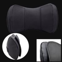 2PCS Black Leather Car Truck Neck Rest Headrest Pillow Cushion Mat Pre