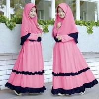 Baju Muslim Gamis Lebaran Anak Usia 6-8 Tahun
