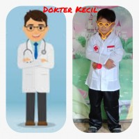 Jas Dokter Cilik/Baju Kostum Dokter/Baju Profesi Usia 8-12 Tahun