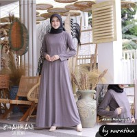 Gamis Busui Zhahrani brown coklat manset Baju Menyusui dress ibu Hamil