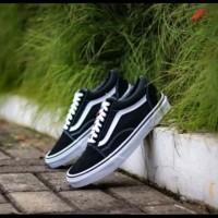 Sepatu Vans Oldskool Classic Old School Black White Premium BNIB China