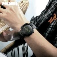 Jam Tangan Pria Smartwatch Bluetooth SKMEI 1301 BLACK Water resist 50m