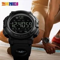 Jam Tangan Pria Smartwatch Bluetooth SKMEI 1303 BLACK Water resist 50m