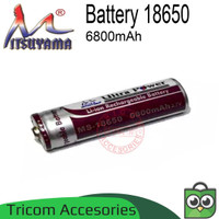Baterai 18650 6800mAh 3.7V Mitsuyama Battery Li-on Rechargeable