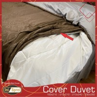 Cover Duve / Sarung Selimut - Tali 8 Titik Sudut & tengah + Resleting - 160x210