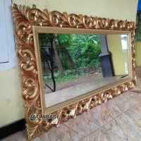 Cermin Hias Dinding Ukir Jati Mebel Jepara - Cermin Ukiran Jati -