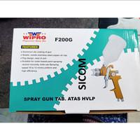 SPRAY GUN HVLP TABUNG ATAS WIPRO 600CC TYPE F200G KODE W0167