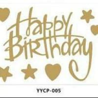 Stiker Happy Birthday / I love you / Happy new year Balon Bobo