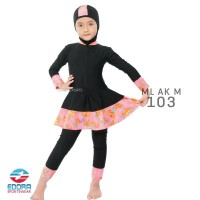 Baju Renang Anak Muslim Muslimah Cewek Perempuan ML AK M