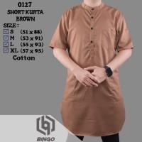 Baju Jubah Gamis Kurta Pakistan Pria Warna Coklat 0127